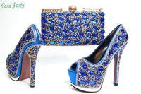 2017, Новая мода итальянский дизайн обувь с сумки в комплекте, Размер 38–43 для вечерние, Высококачественная обувь и сумочка в комплекте для сва
