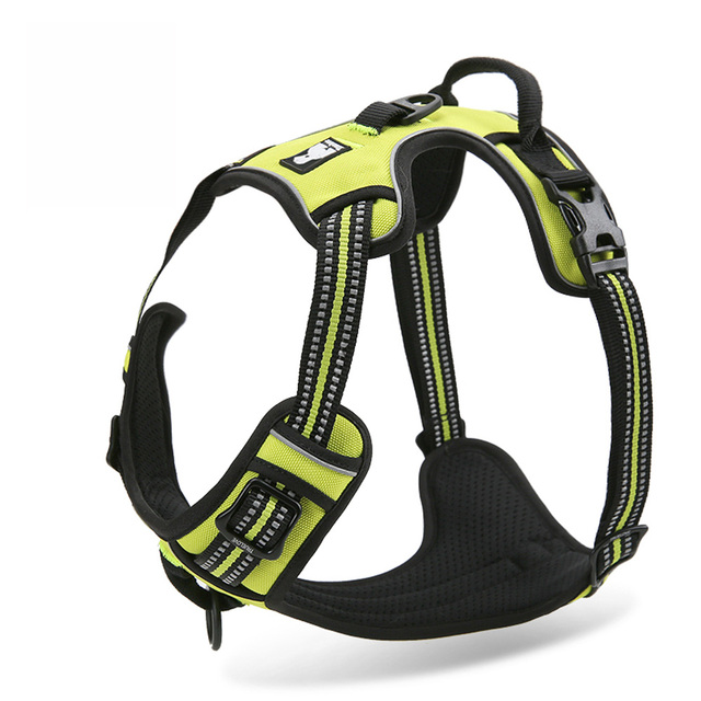 3M Reflective Dog Harness Nylon Dogs Training Harness with Soft Padded Outdoor Adventure Pet Vest  For Medium Large Dog TLH5651