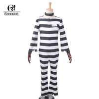 ROLECOS Anime Detentionhouse Nanbaka Prison School Cosplay Costume Jyugo Jumpsuits Prisoner NO 15 Costume