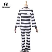 ROLECOS Anime Detentionhouse Nanbaka Prison School Cosplay Costume Jyugo Jumpsuits Prisoner NO 15 Costume