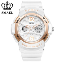 New SMAEL Quality Brand Sports Watches For Women Waterproof 50M Military Army Dual Display Wristwatches Student