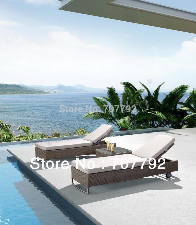 2014 rattan outdoor furniture double people sunbed modern chaise lounge in sun loungers from. Black Bedroom Furniture Sets. Home Design Ideas