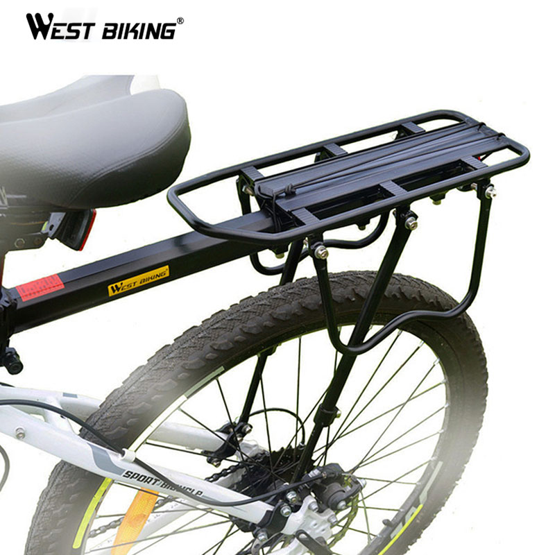 WEST BIKING Bike Rack Aluminum Alloy 50KG Luggage Rear Carrier Trunk for Bicycles MTB Bike Rear Shelf Cycling Bicycle Racks 2018 bike luggage cargo rear rack can be acted as power bank useful bicycle rear carrier racks new bicycle accessories