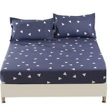 1 Unids sábana King sábanas Doble Sola sábana Sábana ajustable ropa de cama, ropa de cama, colchón de la cama cubierta Gris