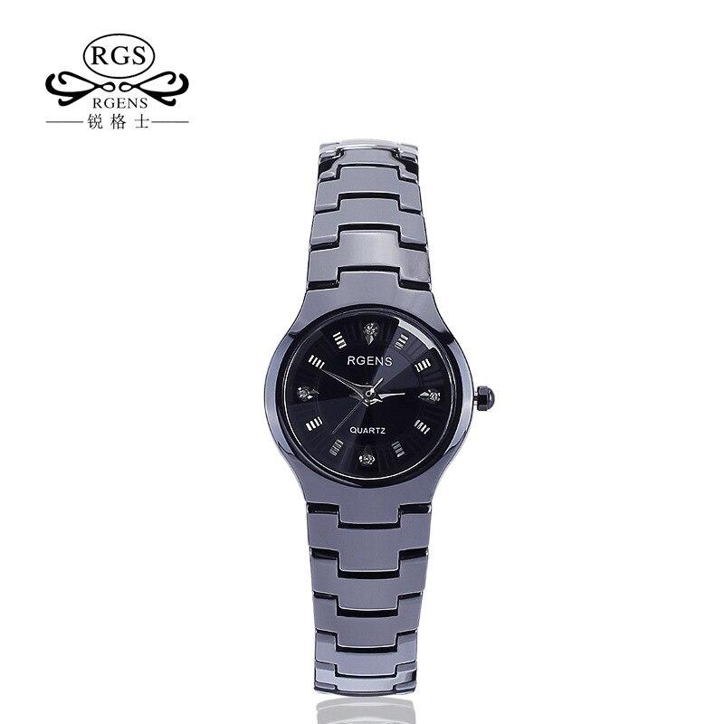womens watches black 100% ceramic quartz woman wristwatches calendar diamond waterproof ladies clocks RGENS brand official