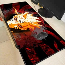 Mairuige Anime japonya Naruto baskı kilitleme kenar PC bilgisayar oyunu fare pedi XXL kauçuk Mat LOL Dota 2 erkek arkadaşı için s