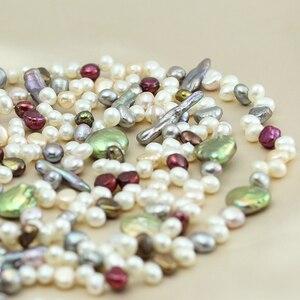 Image 4 - Perła biżuteria, długa prawdziwa naturalna perła słodkowodna naszyjnik ślub kobiety, matka perła naszyjnik 190cm 200cm dziewczyna gify