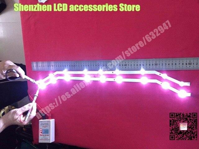 """4 ชิ้น/ล็อต 9LED Backlight สำหรับ Samsung 32 """"ทีวี 2013svs32_3228N1_B2_09 Barra 9 LED Strip D3GE 320SM0 R2 UE32EH4003WX"""