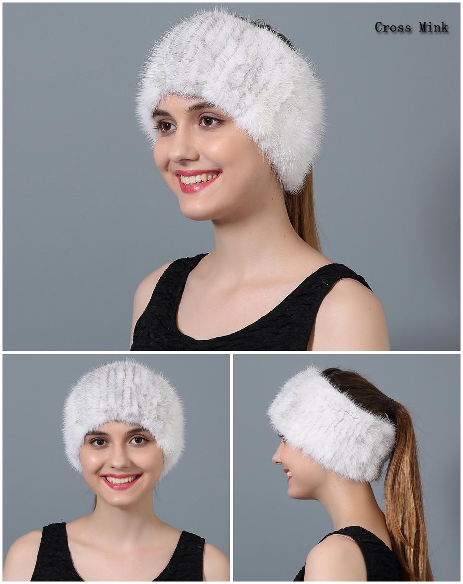 Pulau ใช้หมวกผ้าพันคอผ้าพันคอขนสัตว์ฤดูหนาวหญิงของแท้หมวกขนสัตว์ Dual - 18
