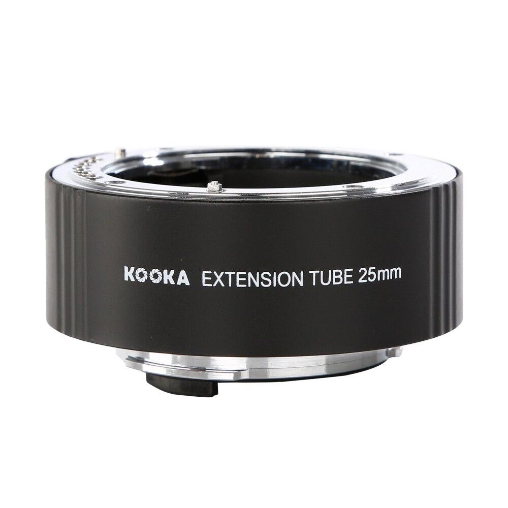 Kooka KK-P25 Tube d'extension en métal AF mise au point automatique TTL pour Pentax pk-mount PK DSLR appareil photo reflex gros plan Macro photographie Image 25mm - 4
