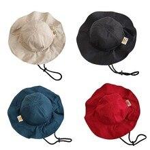 2b52a242e0fde 2019 Spring Summer Baby Boys Girls Toddler Solid Color Bucket Hats Caps  Reversible Sun Headwear (
