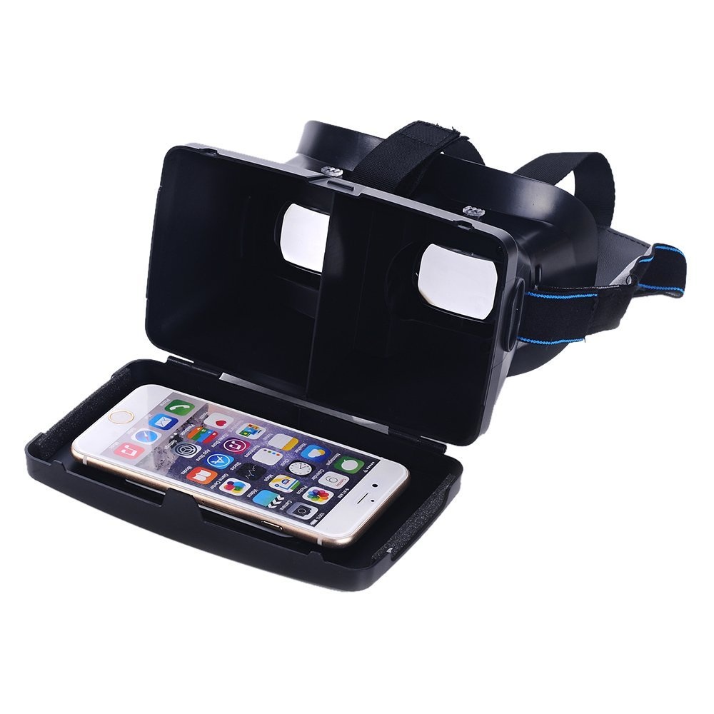 Top Deals Portable Head-Mounted Google <font><b>Cardboard</b></font> Version 3D <font><b>VR</b></font> <font><b>Glasses</b></font> Virtual Reality <font><b>DIY</b></font> 3D <font><b>VR</b></font> Video with Magnetic Switch Mo