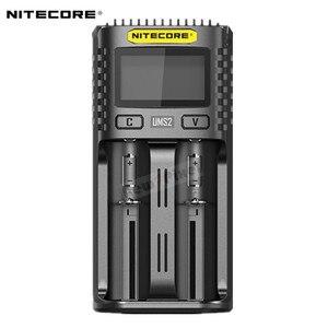 Image 3 - Oryginalny NITECORE UMS2 UMS4 inteligentna ładowarka baterii wyjście USB 3A dla LiFePO4 litowo jonowych Ni MH NiCd 10440 10440 10500 18650