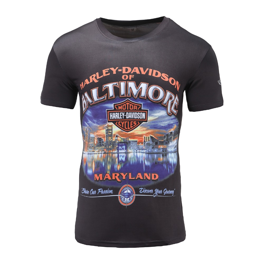 Design t shirt motor - Heavy Metal T Shirt Halley Motorcycle Motor Tee Shirt 3d Printed Harley T Shirts Men