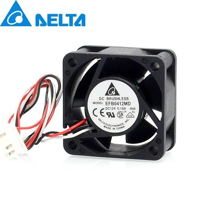 Бесплатная доставка оригинальный Дельта 40*40*20 мм EFB0412MD-ROO 4020 12 В 0.10A 3-провода сигнал тревоги вентилятор