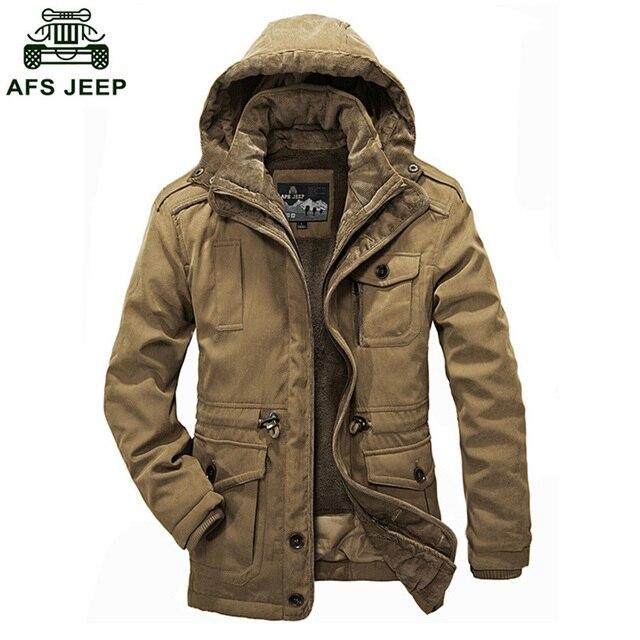 36129156720c 2018 AFS JEEP Mann Jacke Plus Größe Casual Baumwolle Gepolstert Daunenjacke  Dicken Winter Outwear Jacken Mäntel