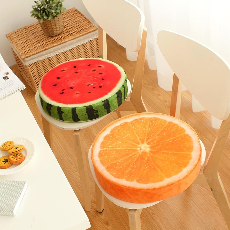 40x40cm kreatív 3D gyümölcs PP pamut párnák Irodai szék párnák kanapé Párnák párna párnák díszítés almofadas Ajándékok