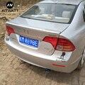 Пригодный для Honda Civic спойлер 2006 2007 2008 2009 2010 2011 Высокое качество ABS Материал заднее крыло автомобиля Неокрашенный праймер задний спойлер
