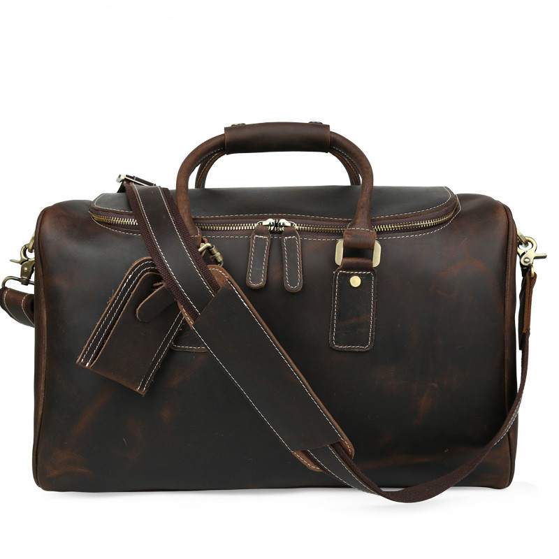 Men Travel Duffle Handbag Cow Leather Large Capacity 16 Laptop Bags 2018 Man Business Weekend Durable Shoulder Crossbody BagMen Travel Duffle Handbag Cow Leather Large Capacity 16 Laptop Bags 2018 Man Business Weekend Durable Shoulder Crossbody Bag