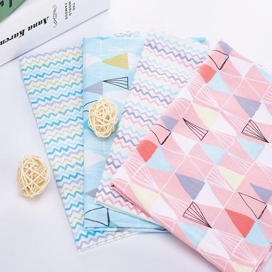 4ks / šarže 40 * 50cm vlna geometrie Série 100% bavlněná tkanina patchworková tkanina Bundle tilda textilie pro šití Diy hadřík