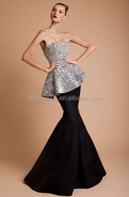 Вечернее платье черное с блестками