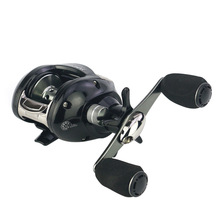 купить YUMOSHI 2018 New Right or Left Baitcasting Reel 12+1BB fishing reels 7.0:1 Bait Casting Fishing Reel Centrifugal Dual Brake AOF дешево