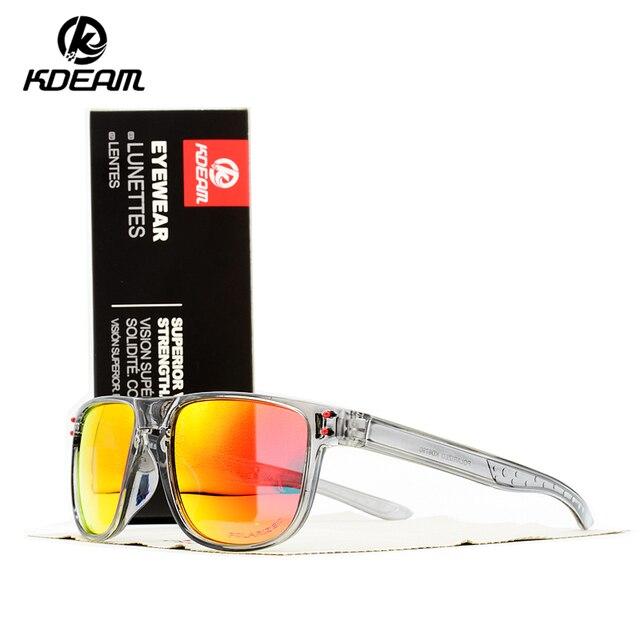 2019 New Men's SunGlasses Polarized KDEAM Sport Sunglasses Men Classic Design Driving Mirror Sunglasses Male Eyewear with box
