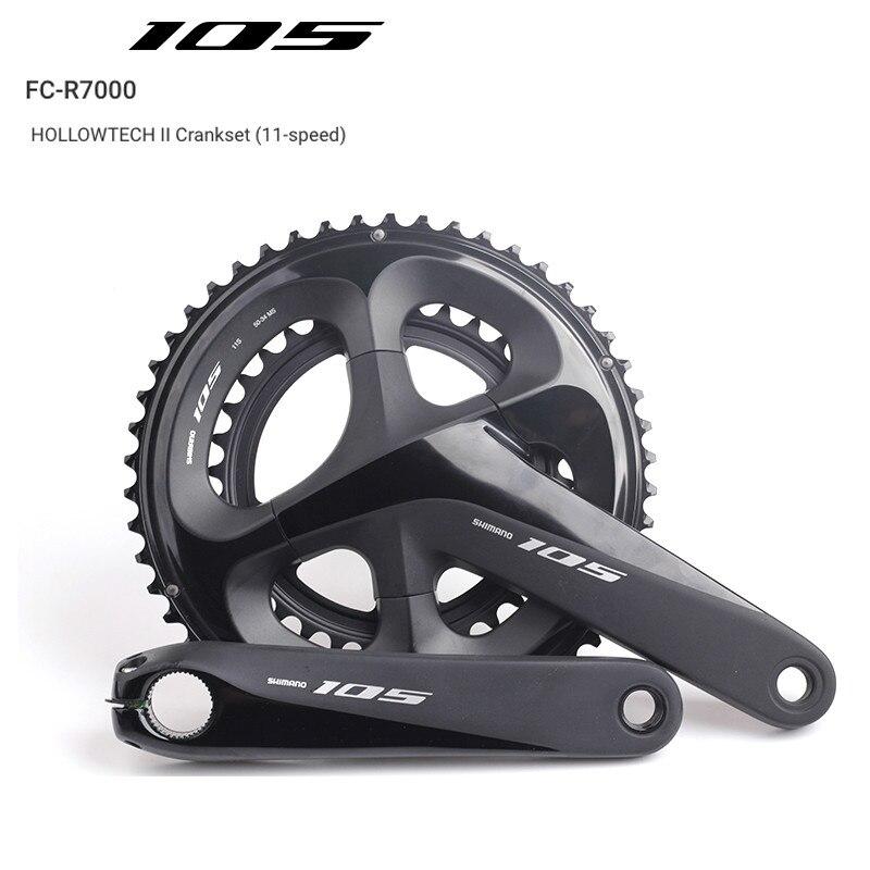Shimano 105 FC R7000 50x34 T 170mm 175mm 165mm vélo de route pédalier creux Tech II vélo chaîne roue