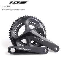 цена Shimano 105 FC R7000 50x34T 170mm 175mm 165mm Road Bicycle Crankset Hollow Tech II Bike Chain Wheel онлайн в 2017 году