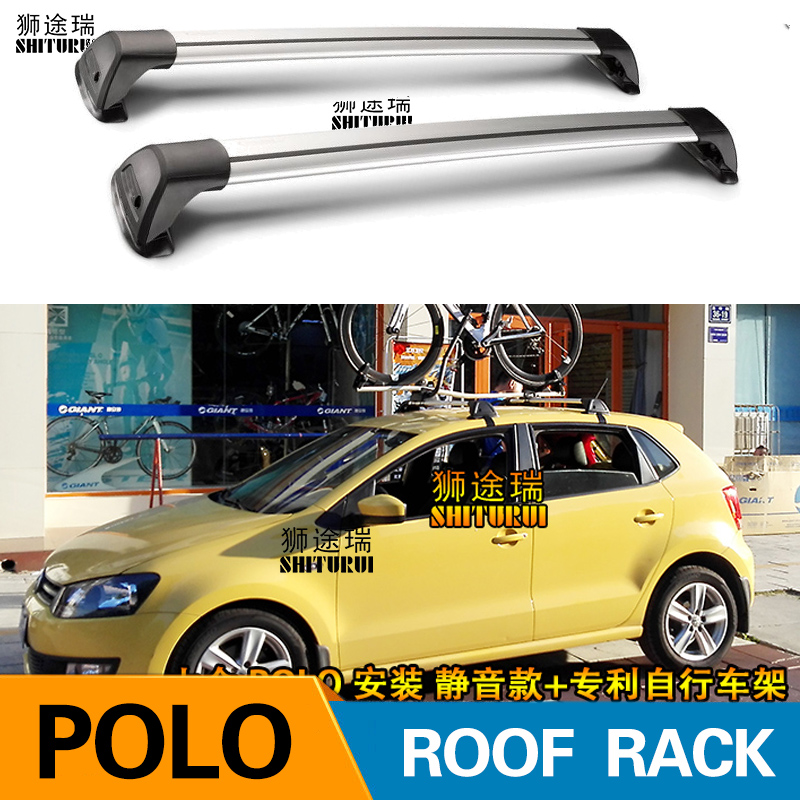2 Pcs For Volkswagen Polo 2002+ 2018 V Vi Iv Roof Bar Car Special Aluminum Alloy Belt Lock Led Shooting Rack Corss Rack 2018