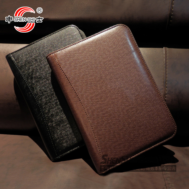 166 series business manager folder zipper bagsnotepad creative leather notebook sub custom stationery 1 pcs A4/A5/A6