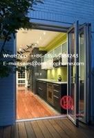 Алюминиевая двустворчатая дверь тепловой перерыв звукоизоляционный алюминиевый двери дизайн с порошковым покрытием, двустворчатые двери,