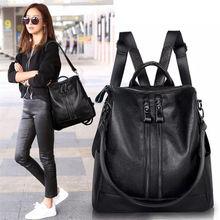 2018 جديد أزياء المرأة حقيبة جلدية عالية الجودة الشباب الظهر للمراهقات الإناث حقيبة مدرسية الكتف bagpack mochil