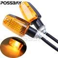 Possbay 2 unids/lote motocicleta señales de giro luz para honda cb400 cb1300 cb 400 cb 1300 luces indicadores ámbar intermitente motocicleta
