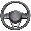 Black Artificial Leather Car Steering Wheel Cover for Mazda CX-5 CX5 Atenza 2014 New Mazda 3 CX-3 2016 Scion iA 2016