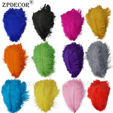 12-14 Inch 30-35CM Frist-Grade Ostrich Feathers for DIY Jewelry Craft Making(China)