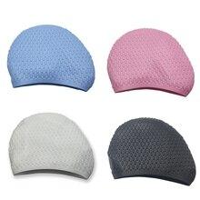 Шапочки для купания Для женщин Для мужчин быстросохнущая Водонепроницаемый эластичные силиконовая шапка для взрослых головной убор унисекс аксессуары для спортивной одежды