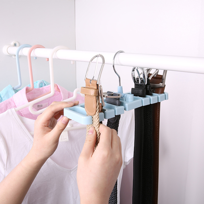 Multifuction Storage Rack Tie Belt Organizer Rotating Ties Hanger Holder Closet Organization Wardrobe Finishing Rack Space Saver