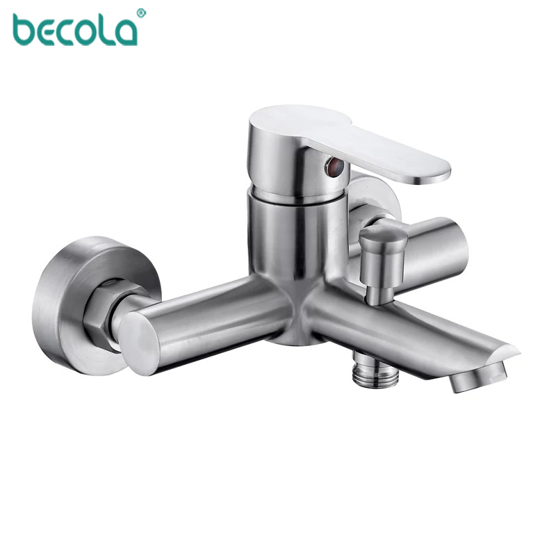 Image 3 - BECOLA 304 stainless steel bathroom Basin bathtub shower Mixer faucet With Handle Shower Tap Bathtub Faucet Set-in Shower Faucets from Home Improvement