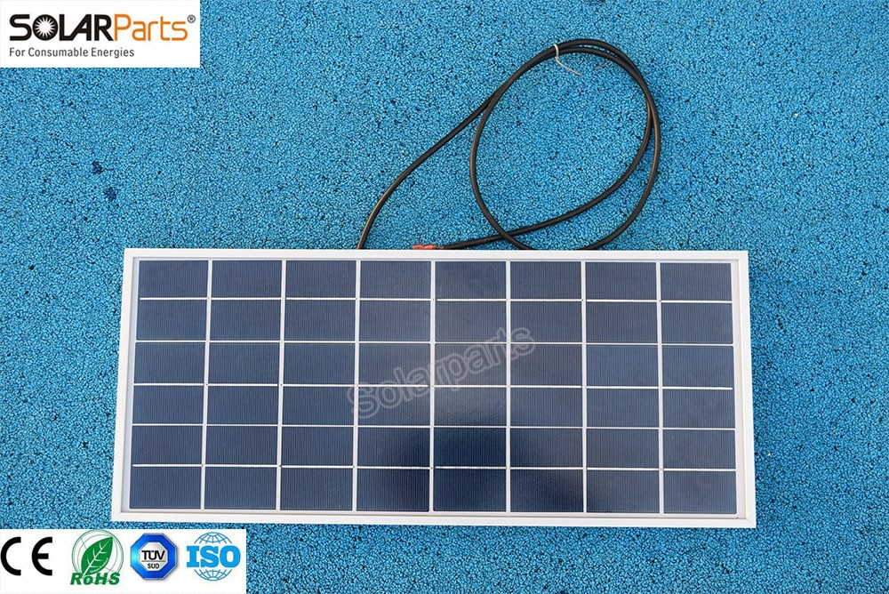 Solarparts 1x 20W polycrystalline solar panel module cell system 12V DIY kits for toys light led science toy experiment outdoor 80pcs poly solar cell 156x39mm polycrystalline kits high quality for diy 80w solar panel solar generators