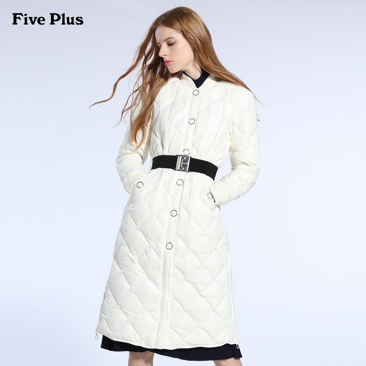 2017 new hot winter Thicker Keep warm woman Down jacket Parkas Lingge Loose baseball clothing Knee X-long black Luxury fashion