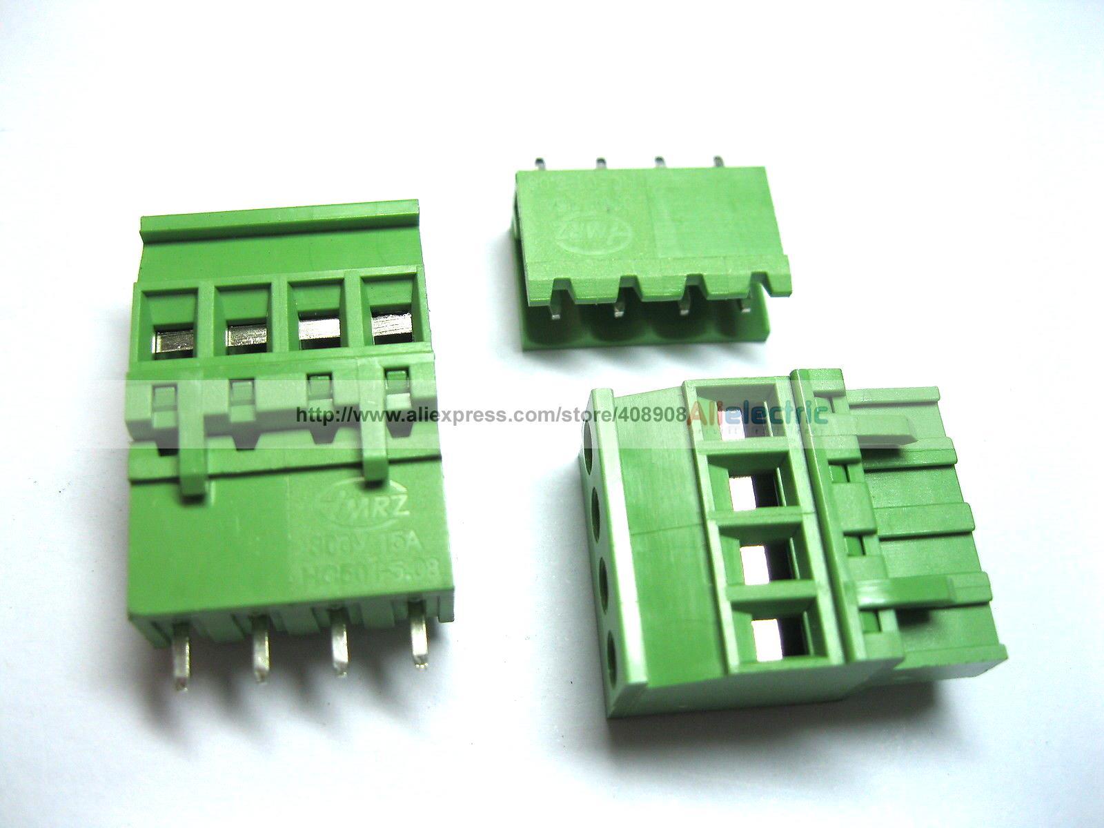 120 Pcs 5.08A 5.08mm Straight 6 Pin Screw Terminal Block Connector Pluggable 6 pin curved screw terminal block connectors green 10 piece pack