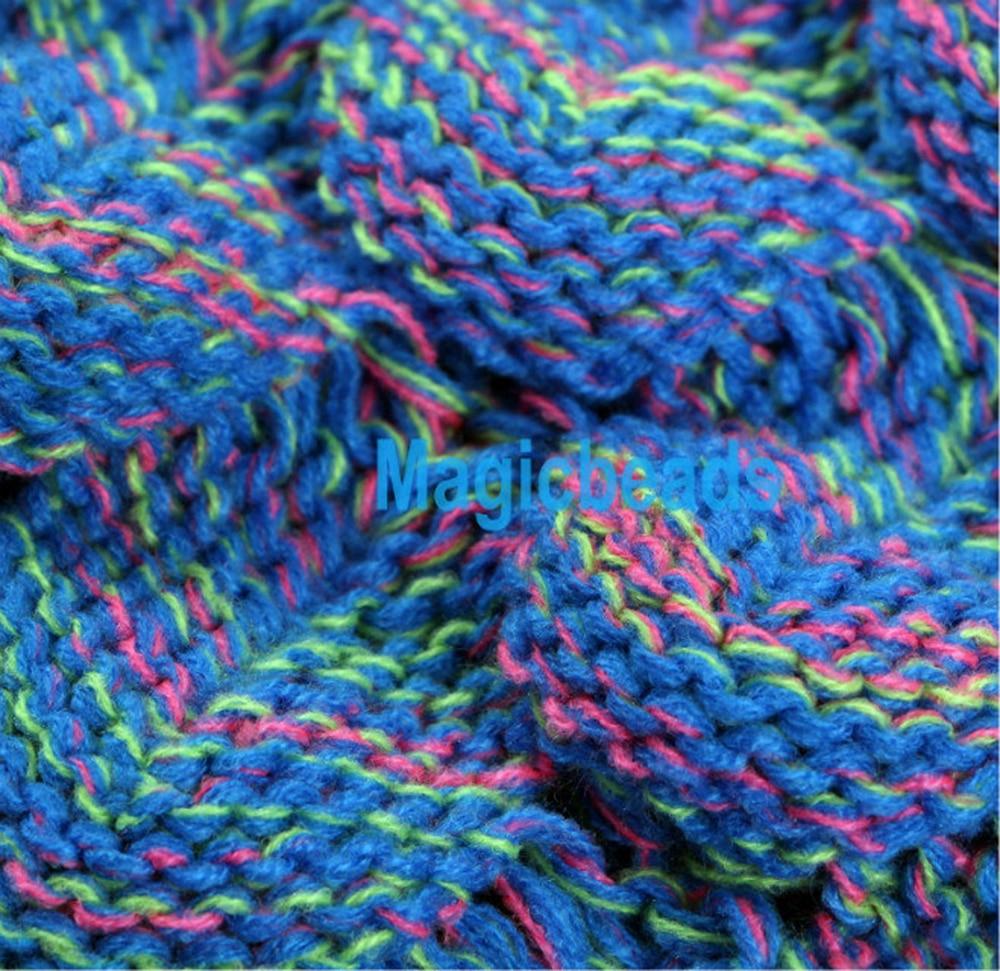 Tessuto Mermaid Tail Divano Coperta Adulto Super Soft Fatto A Mano All'uncinetto Maglia di Lana Filato Tinto Sacchi A Pelo lancio Bed Wrap 180 cm - 6