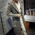 Siriusha Autumn and winter lovers outerwear male medium-long sweater cardigan thickening sweater long design coat