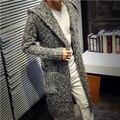 Siriusha Outono e amantes do inverno outerwear masculino trincheira de médio-longo camisola espessamento cardigan camisola projeto longo casaco