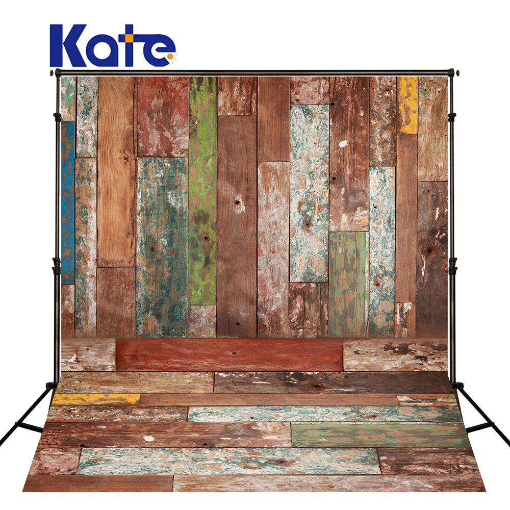 Kate Retor Wood Photography Backdrops Art Colorful Photostudio Background Cotton For Children Backgrounds Photo Studio