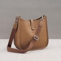 Fashion 100% Genuine Leather Shoulder Bag High Quality Cowhide Women Messenger Bags Luxury Bucket Soft Handbags Bolsas Feminina