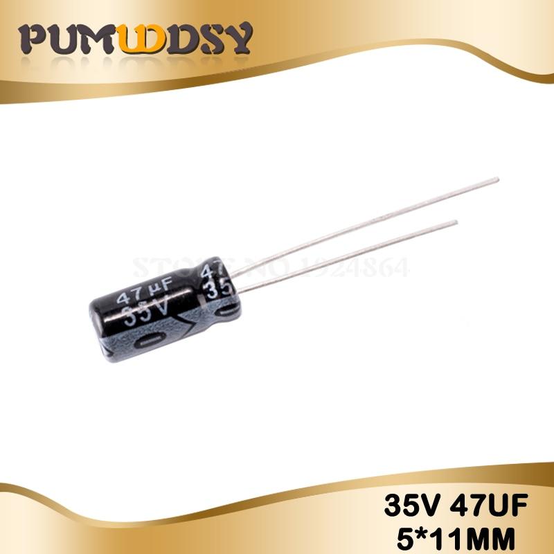 50PCS Higt Quality 35V47UF  5*11mm 47UF 35V 5*11 Electrolytic Capacitor