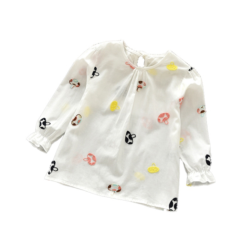 T-Shirt Children Tops Long-Sleeve Floral Girls Baby Cotton Casual Blouse Tees Autumn
