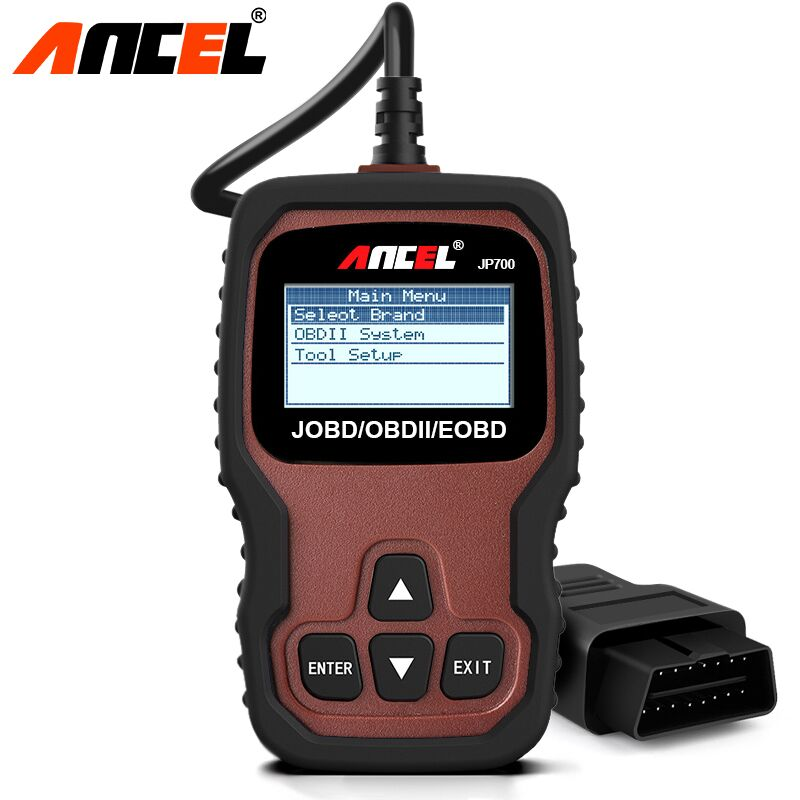 Ancel JP700 OBD2 Automotive Scanner OBD 2 JOBD EOBD for Japanese Car Code Scanner Car Erase Fault Code Reader Diagnostic Tool one set portable car truck diagnostic scanner tool auto obd 2 kw807 fault code reader scanners with cd